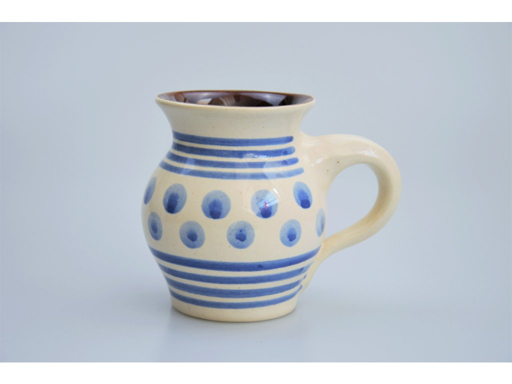 Hrdějovický keramický hrnek - Puntíky