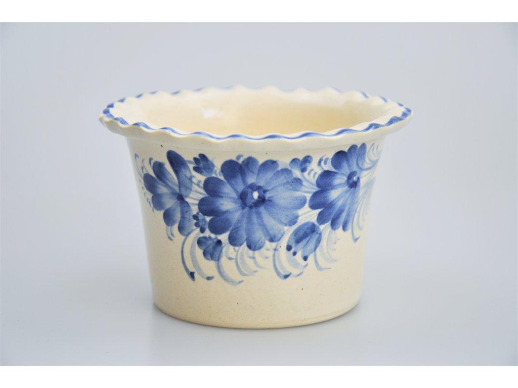 Hrdějovický keramický květináč - S květy