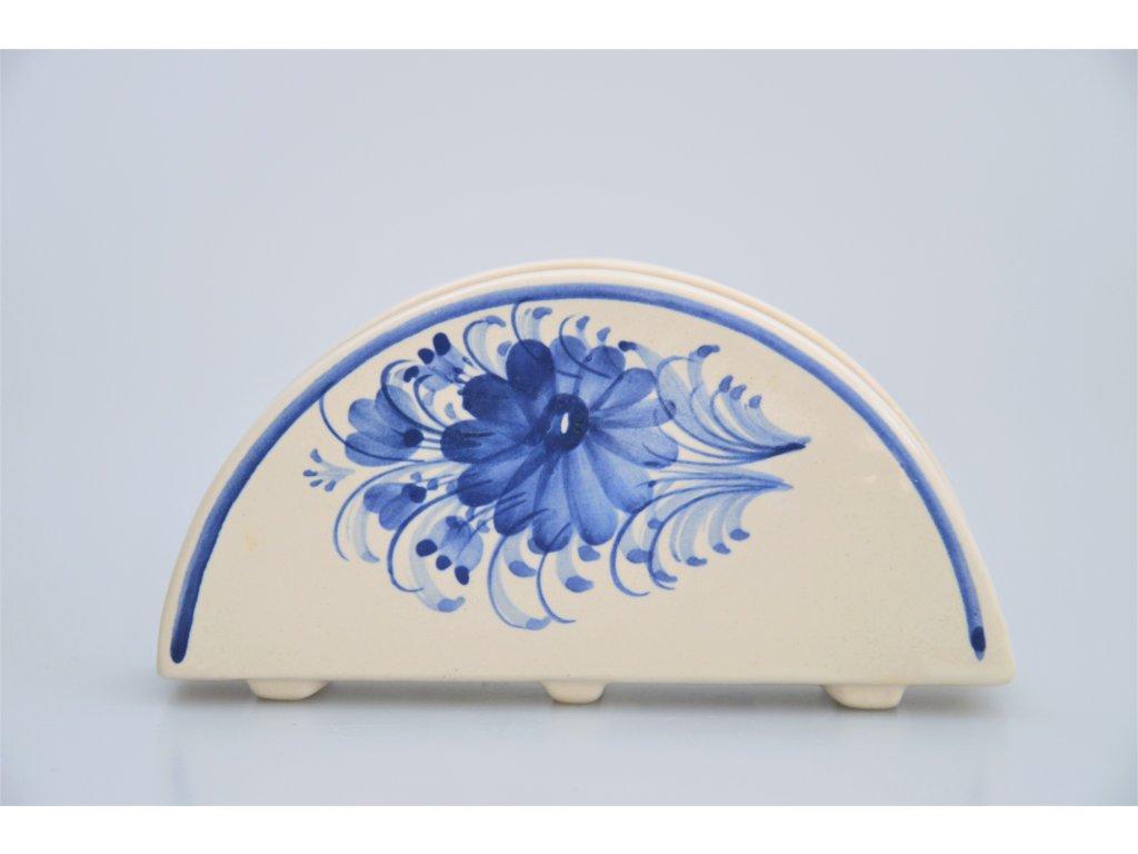 Hrdějovický keramický ubrouskovník - S květy
