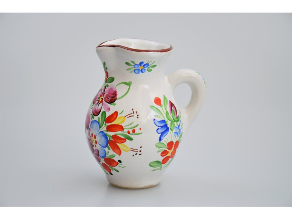 Chodský keramický džbánek - Bílý 2