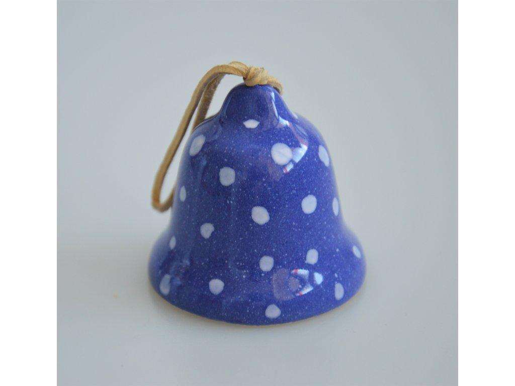 Keramický zvonek - modrý