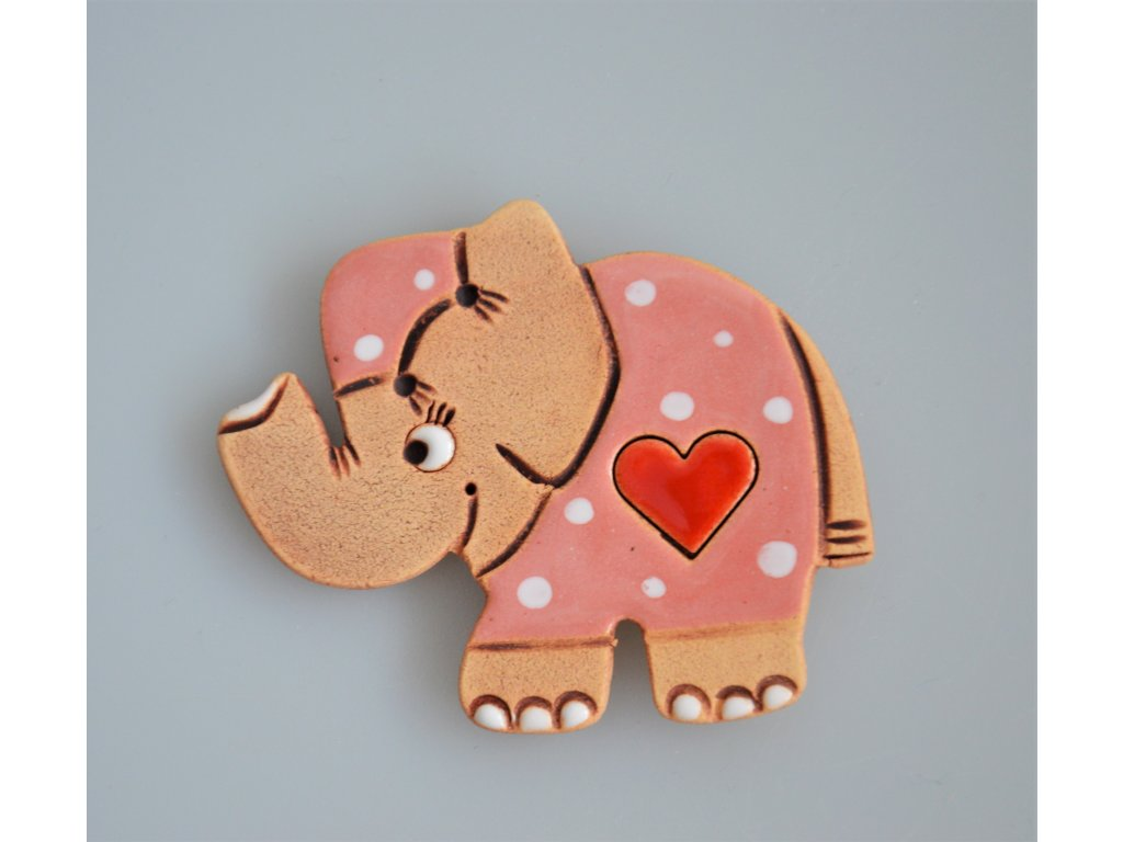 Keramický magnet - slon