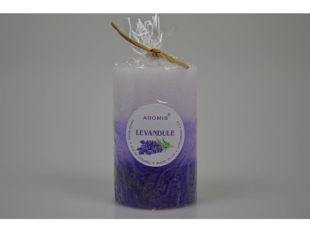 Svíčka Aromis válec fialová - Levandule