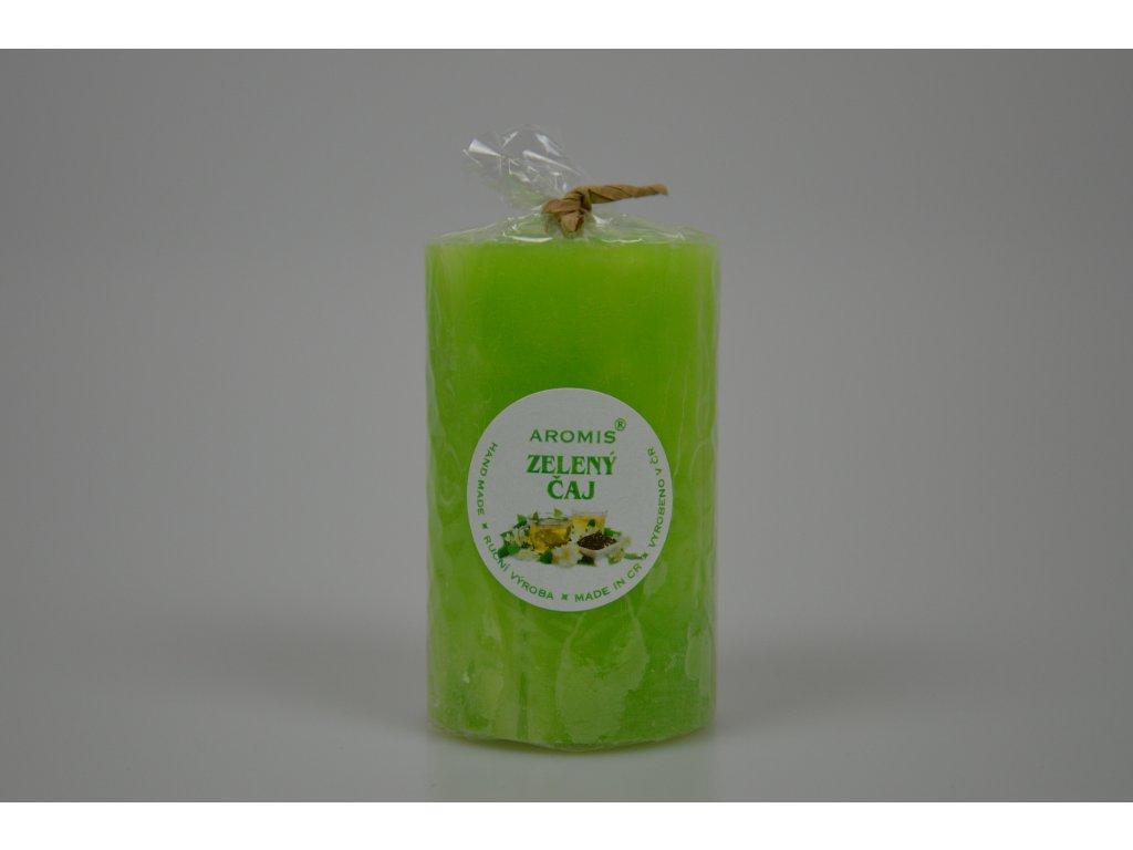 Svíčka Aromis válec zelená - Zelený čaj
