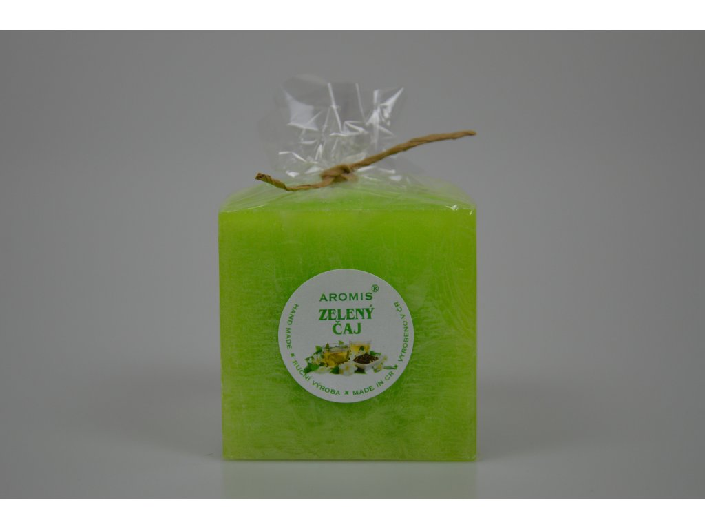 Svíčka Aromis kostka zelená - Zelený čaj