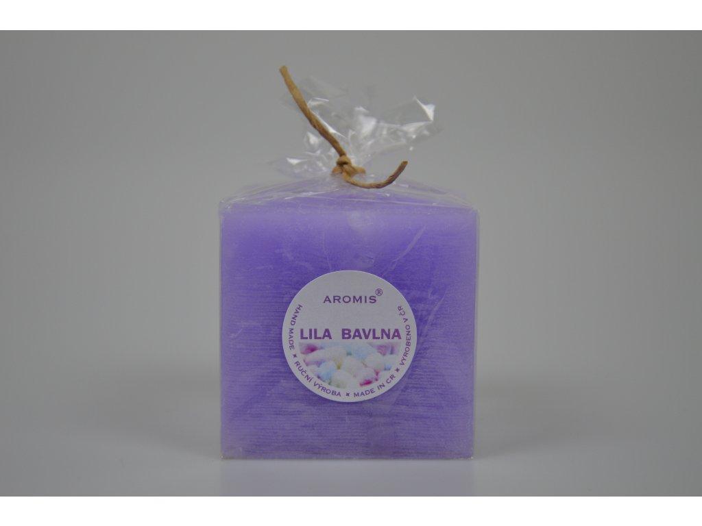 Svíčka Aromis kostka fialová - Lila bavlna