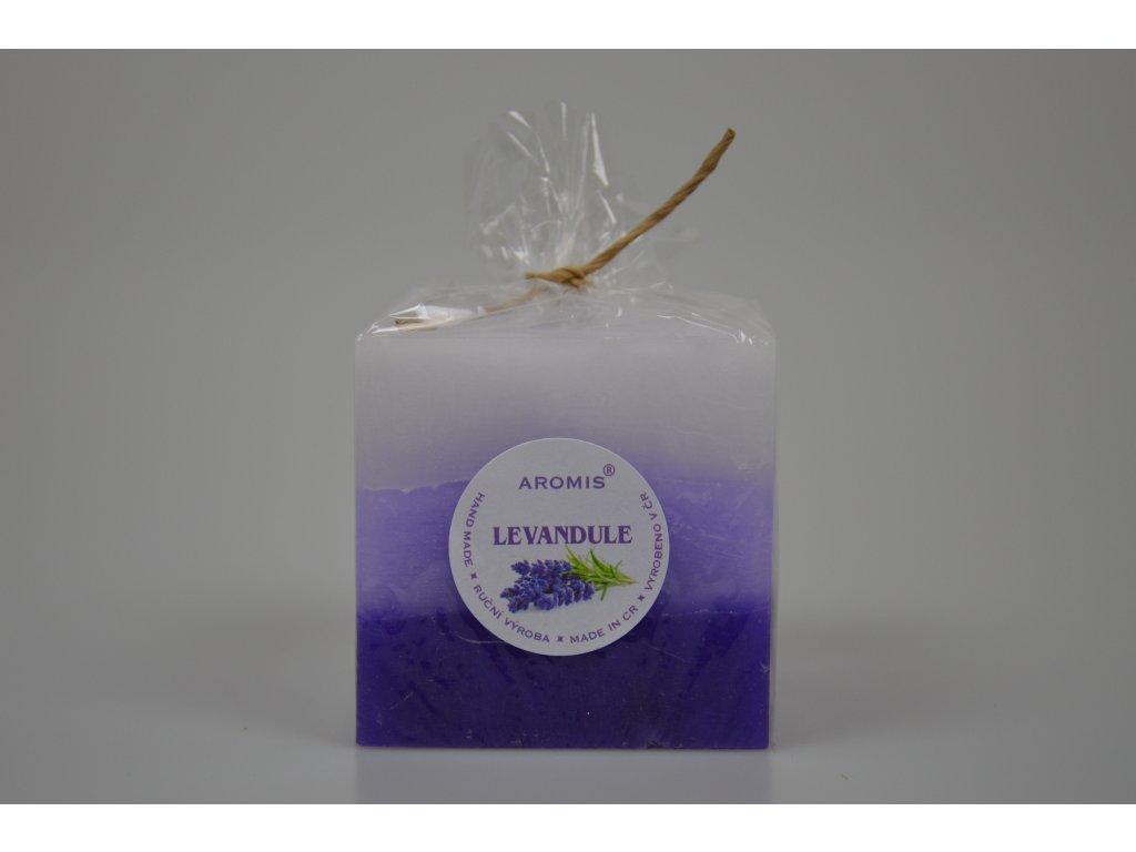 Svíčka Aromis kostka fialová - Levandule