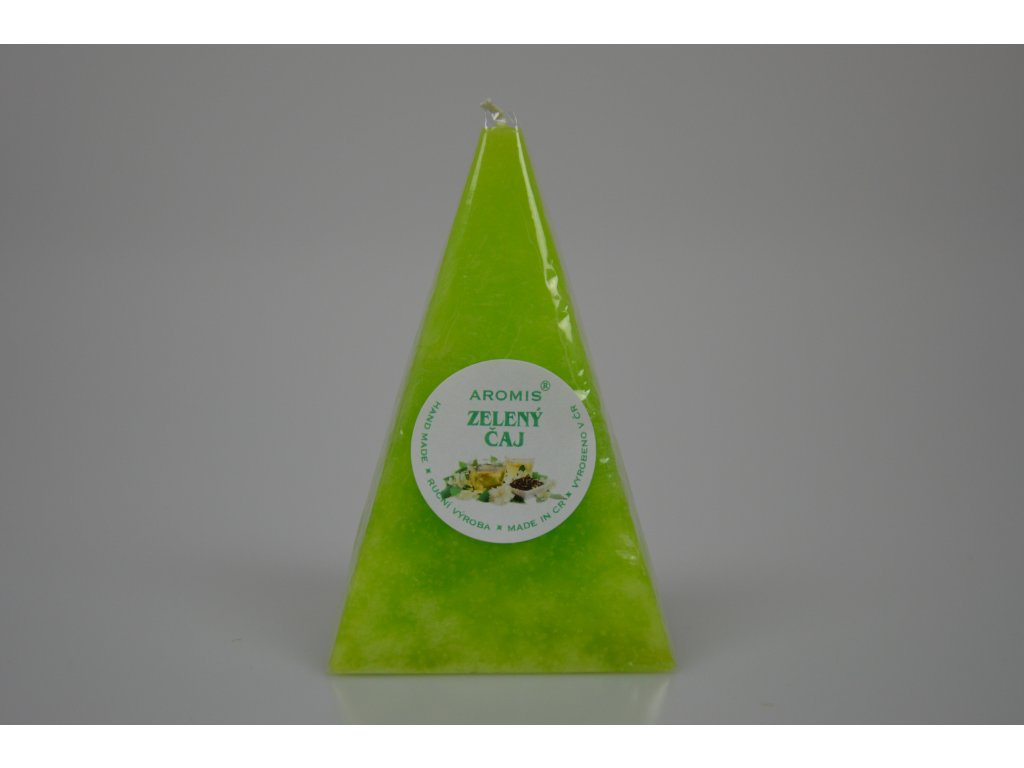 Svíčka Aromis jehlan zelená - Zelený čaj