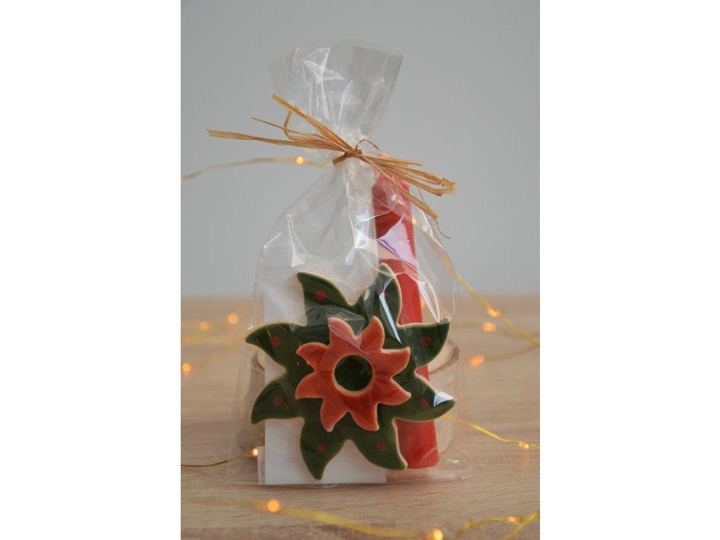 Vánoční svícen hvězdička