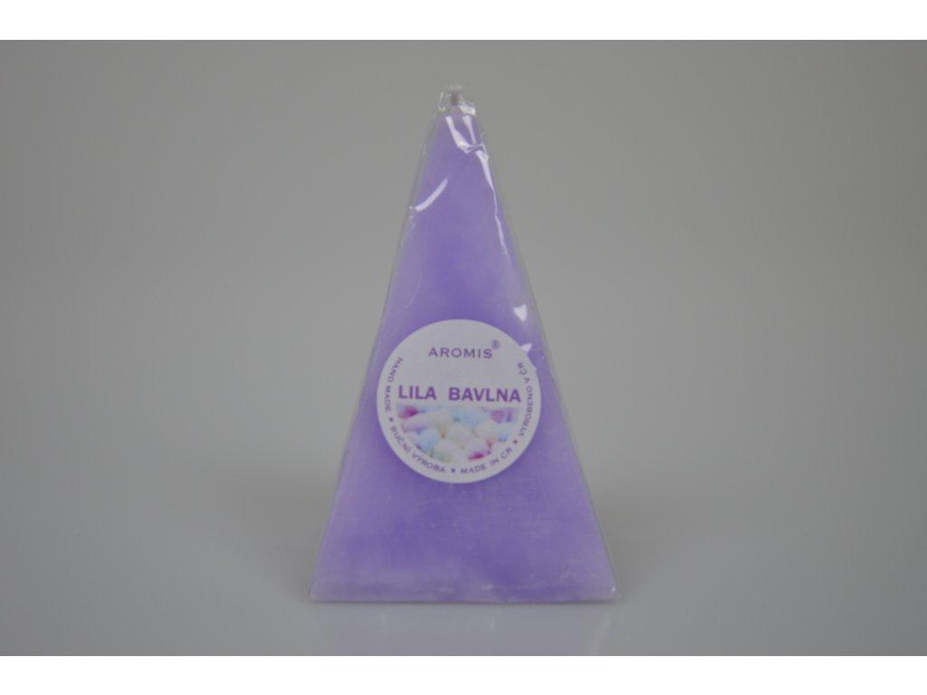 Svíčka Aromis jehlan fialová  - Lila bavlna
