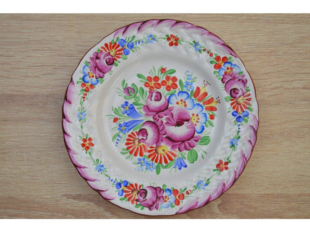 Chodský talíř - fialový