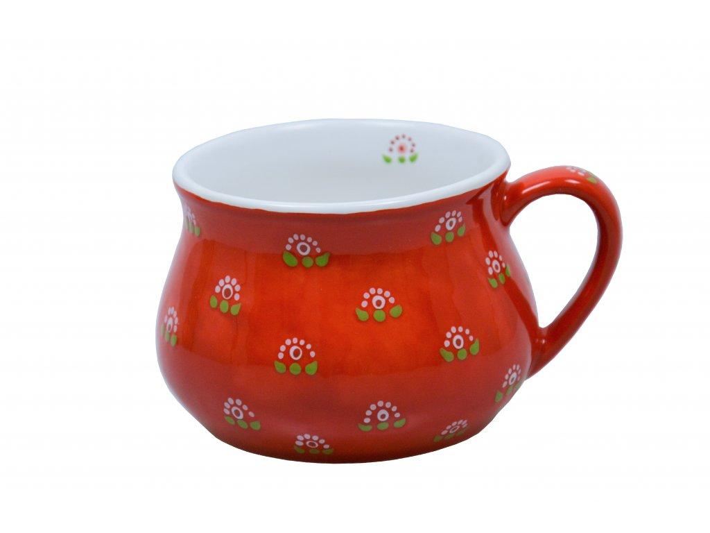 Buclák - Červený s květinou