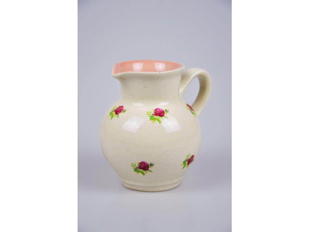 Keramický džbán - Růže