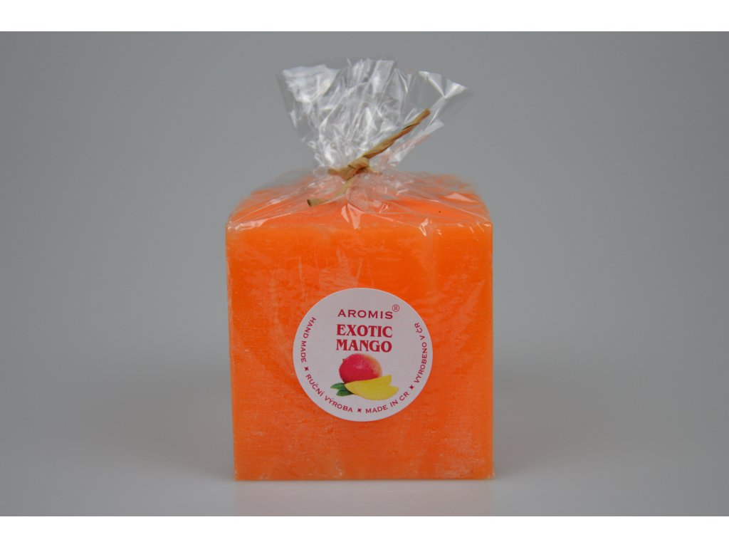 Svíčka Aromis kostka oranžová - Exotic mango