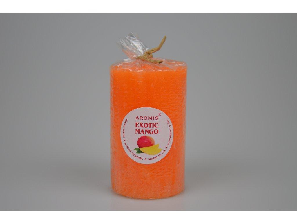 Svíčka Aromis válec oranžová - Exotic mango