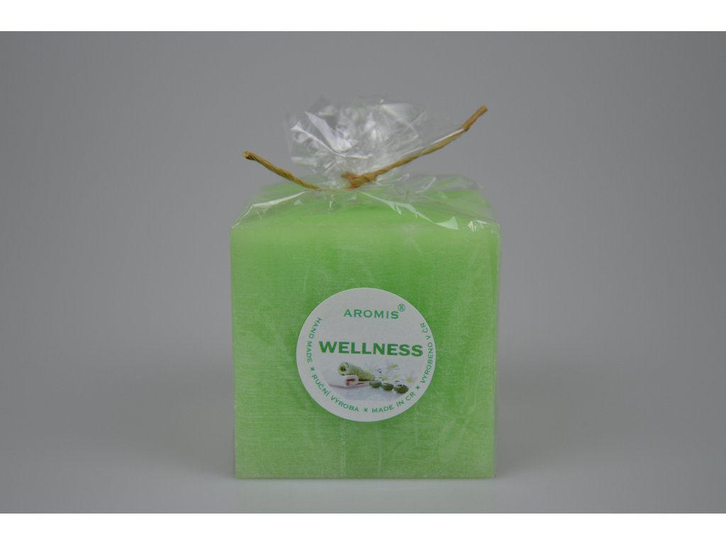 Svíčka Aromis kostka zelená - Wellness