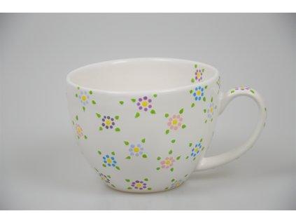 Na čaj - Bílý s květy