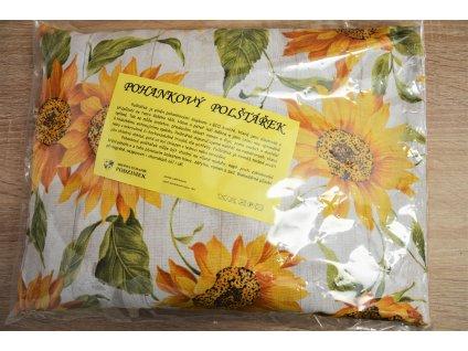 Pohankový polštářek se slunečnicemi - velký