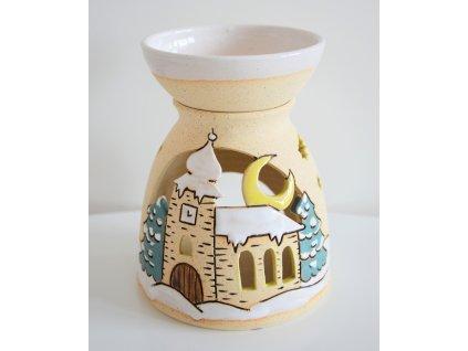 Aromalampa vánoční - kostelík 2