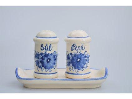 Hrdějovický keramický komplet - Sůl a pepř s květy
