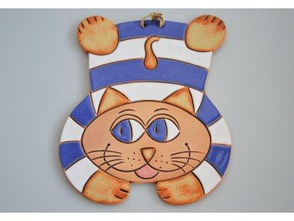 Keramická kočka - pruhovaná