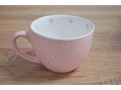 Na čaj - Růžový s květy