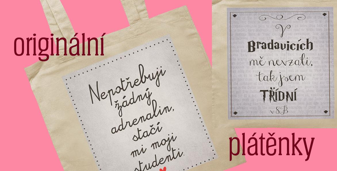 plátěnky, tašky jako dárek k narozeninám, promoci, pro maminku, kamarádku nebo kolegyni