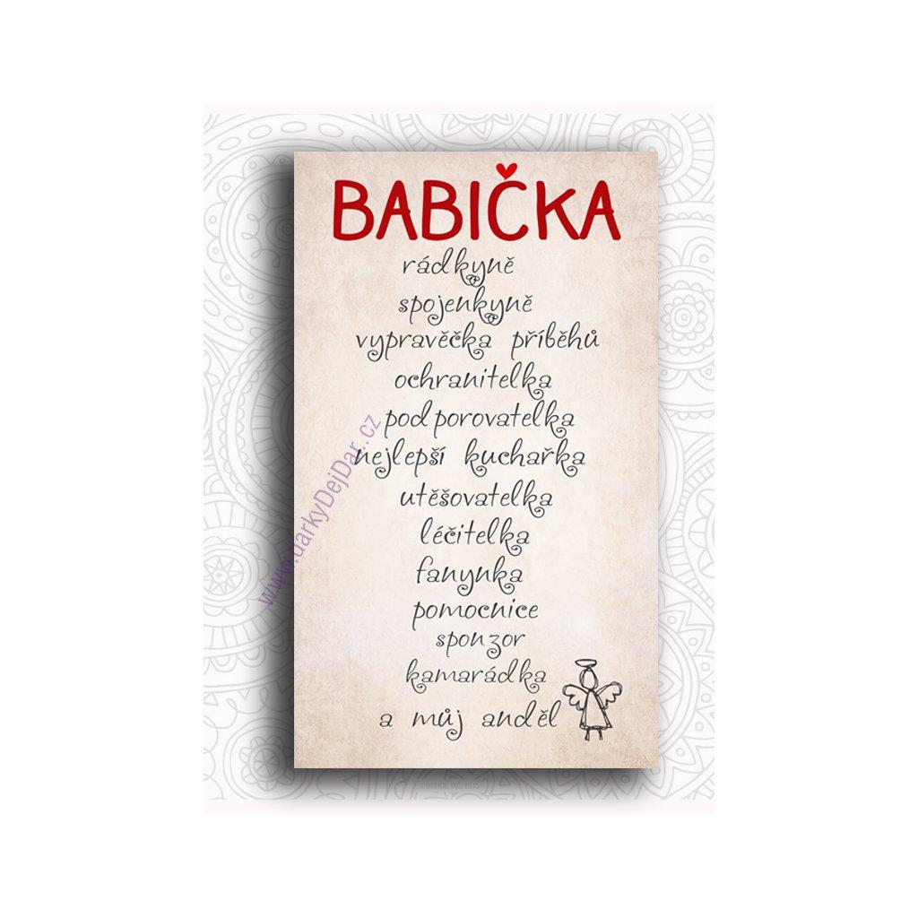 přání k svátku babičce Obrázek s nápisem pro babičku   Dárky Dejdar   dárky k narozeninám  přání k svátku babičce