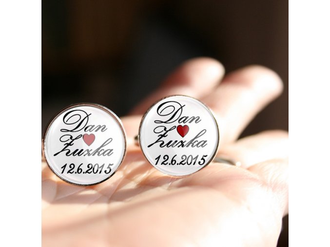 manžetové knoflíčky ke svatbě