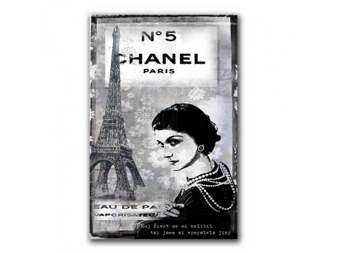 Šperkovnice na zeď, motiv Coco Chanel