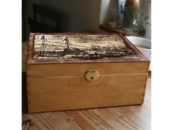 krabice na čaj přístav