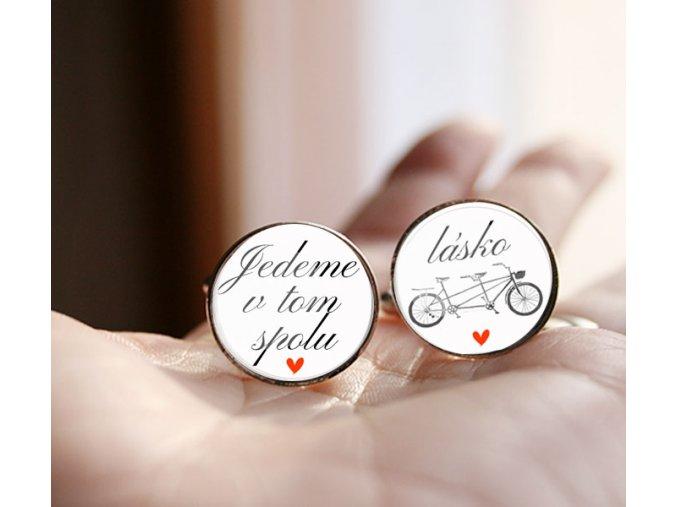 manžetové knoflíčky svatba