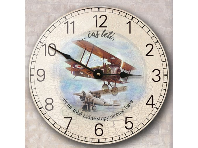 hodiny s letadlem