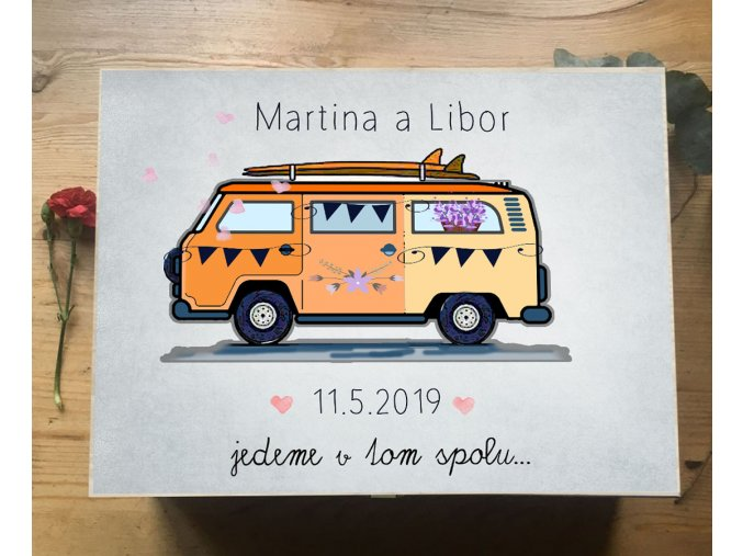 svatební dar s karavanem