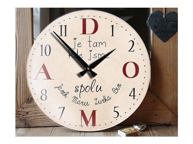 hodiny pro rodinu, dárek, citát, pravidla rodiny