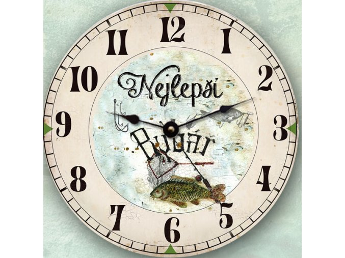 hodiny, dárek pro rybáře