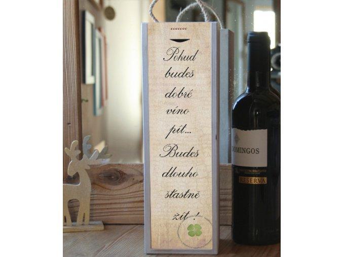 Dárek k narozeninám, krabice na 1 víno