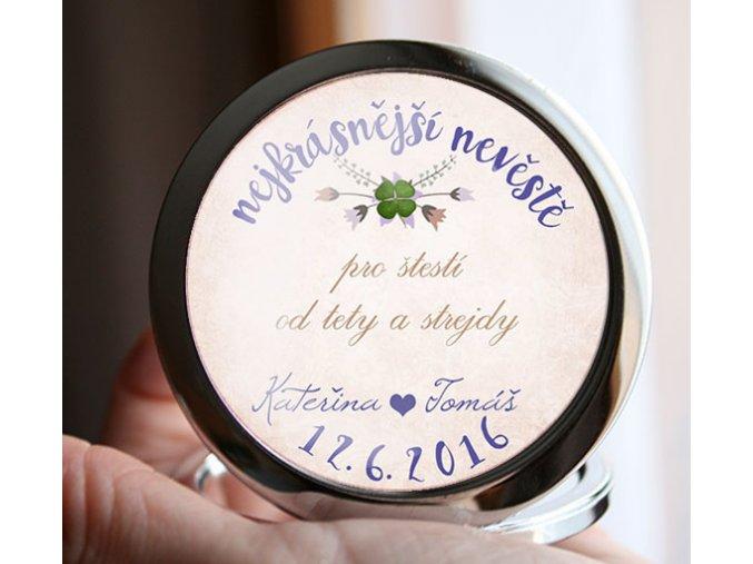 svatební zrcátko pro nevěstu