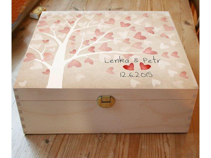 kazeta, strom přání, svatební, dar