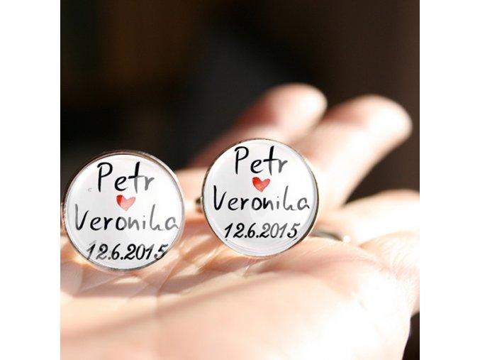 svatební manžetové knoflíčky na zakázku