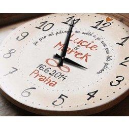 hodiny e svatbě, dárek, dar,