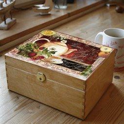 čaj krabice hnědá