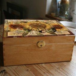 Kazeta na čaj slunečnice