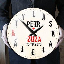 hodiny ke svatbě