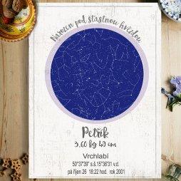 hvězdá obloha obraz dárek