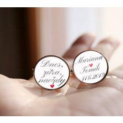 manžetky ke svatbě