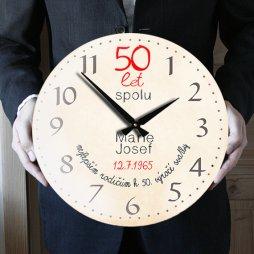 velké hodiny k 50 výročí svatby, dárek k výročí svatby