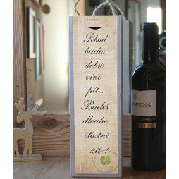 Krabice na víno s nápisem