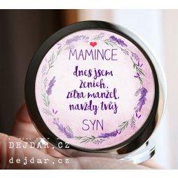 svatební zrcátko, dárek pro maminku