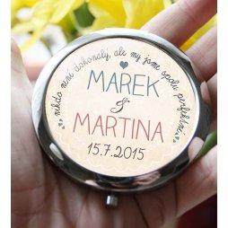 kosmetické zrcátko ke svatbě